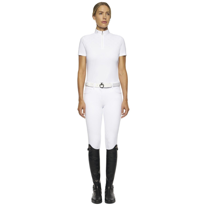 Women's Short-sleeved White Polo Shirt