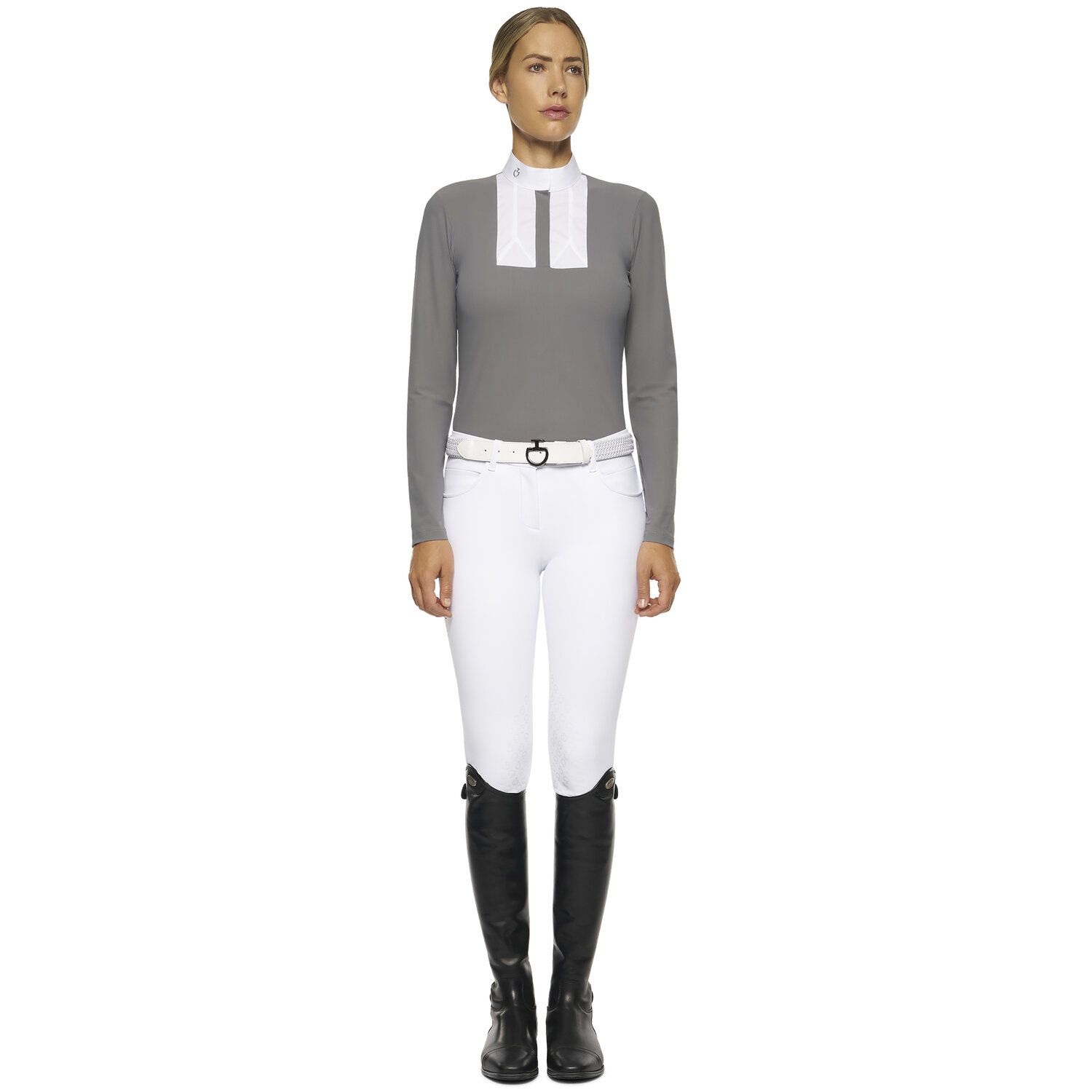 Women's long-sleeved polo with bib
