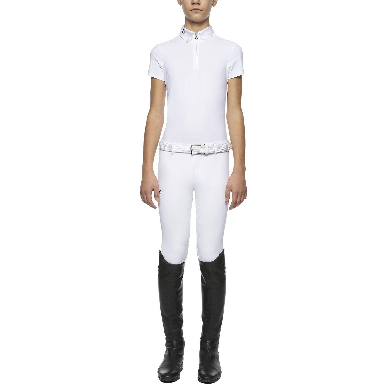 Boy's short-sleeved zip polo shirt