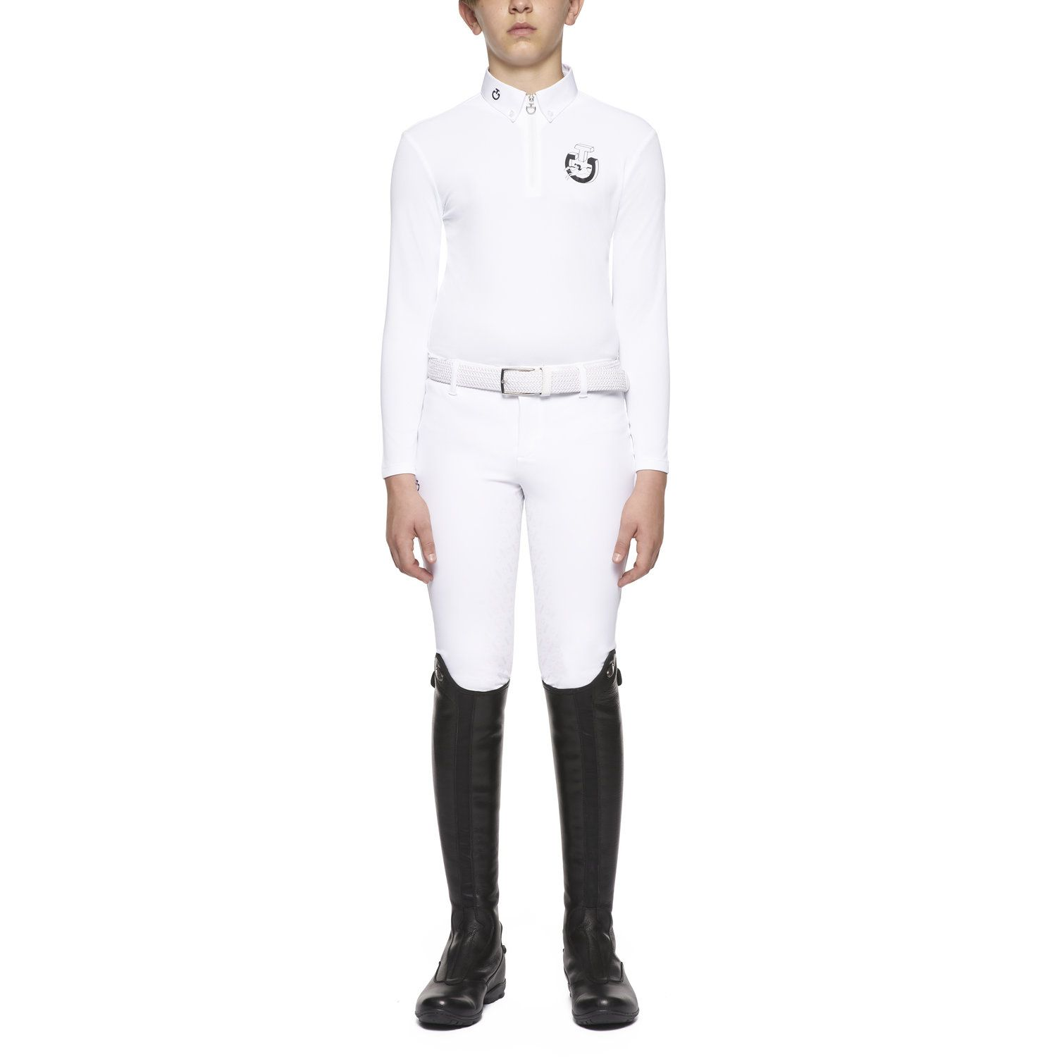 Boy's long-sleeved competition polo