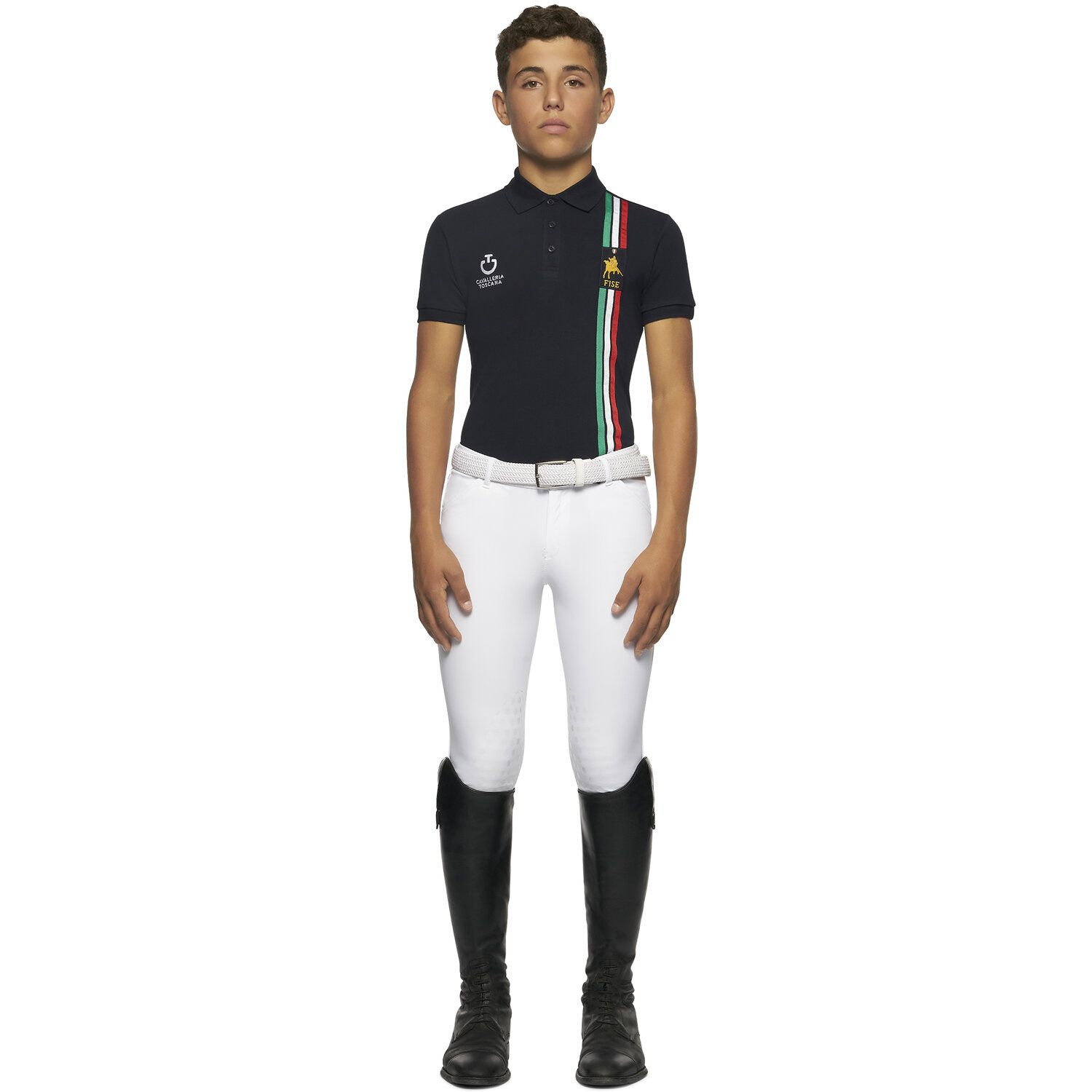 FISE short sleeved training Polo for boys