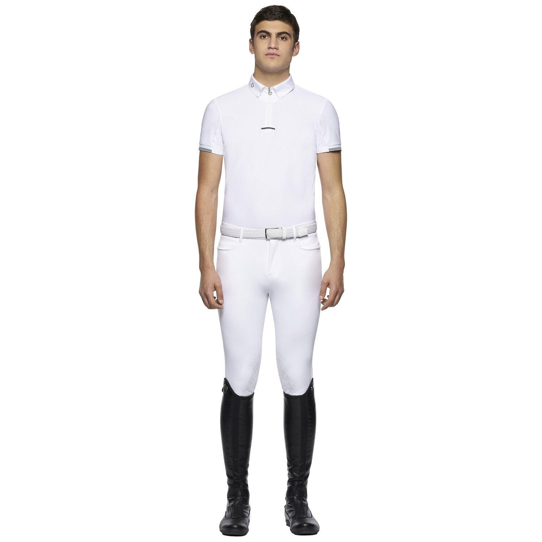 Men's short-sleeved piqué polo
