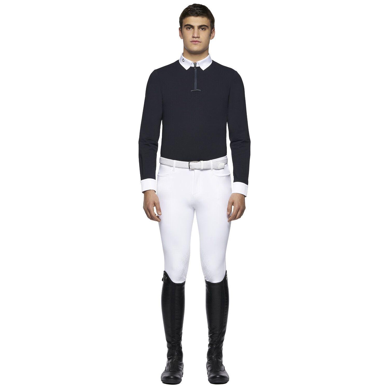 Men's long-sleeved piqué polo