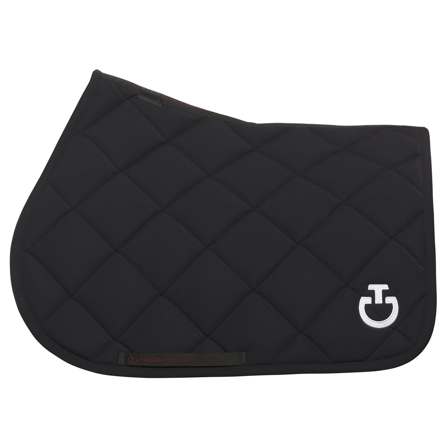 Rhombi-quilted jumping saddle pad