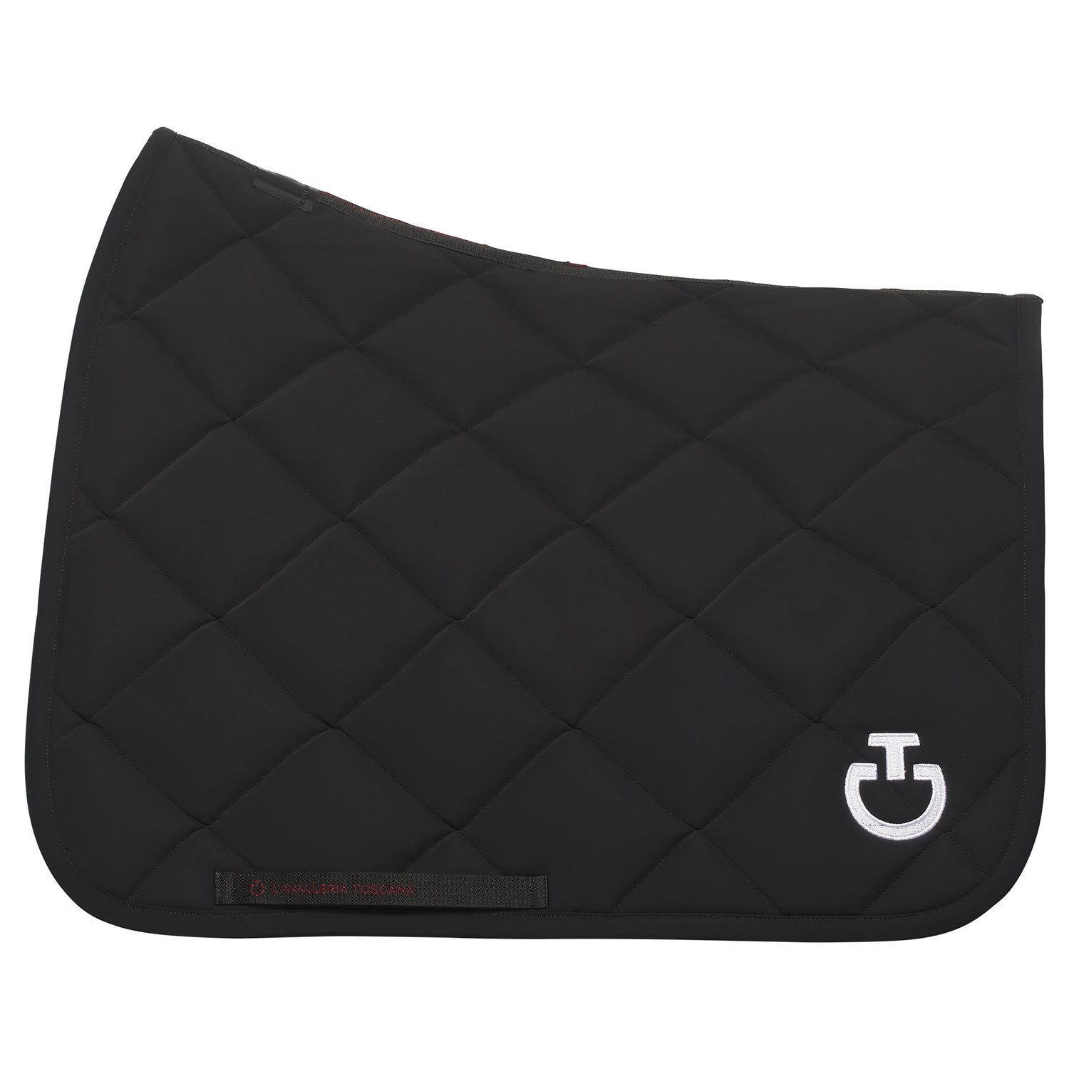 Rhombi-quilted dressage saddle pad