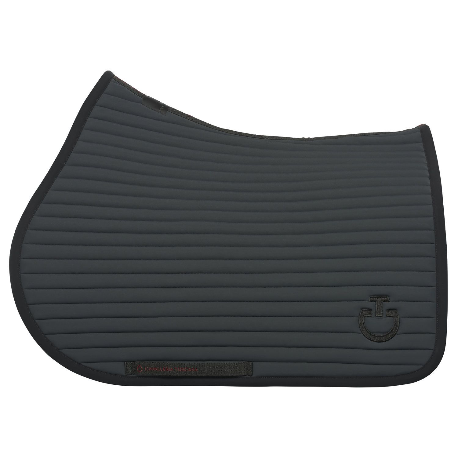 Row-quilted jumping saddle pad