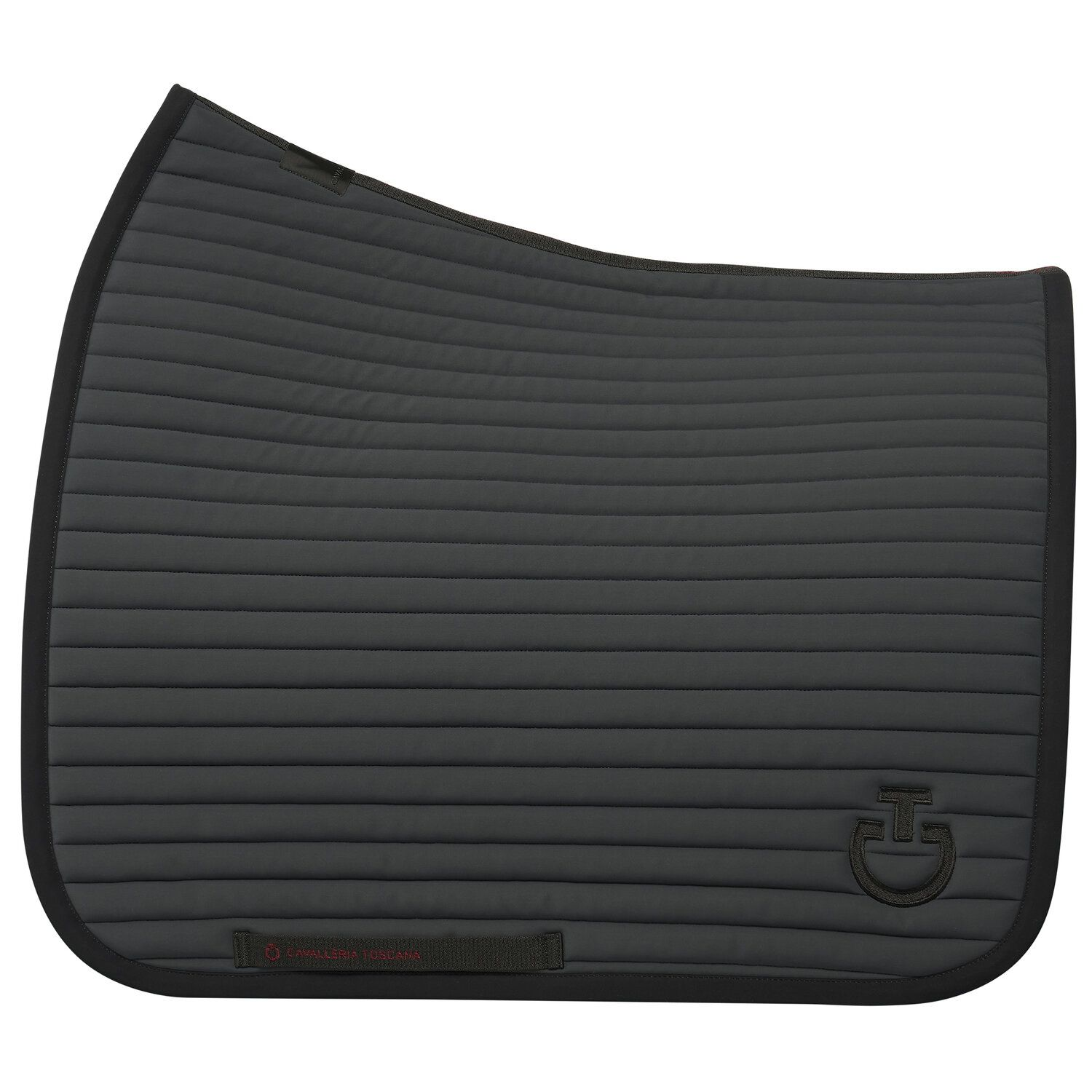 Row-quilted dressage saddle pad