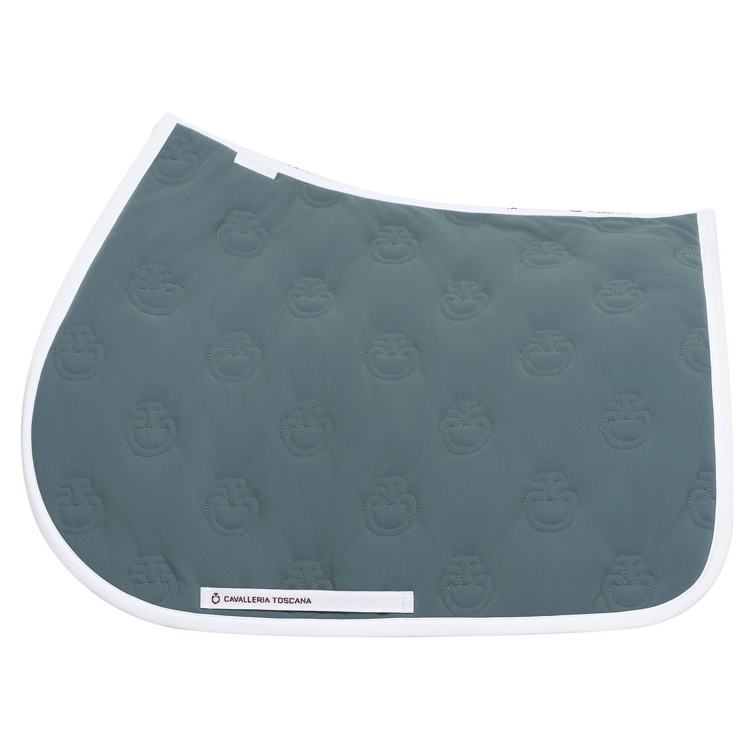 Logo-quilted jumping saddle pad