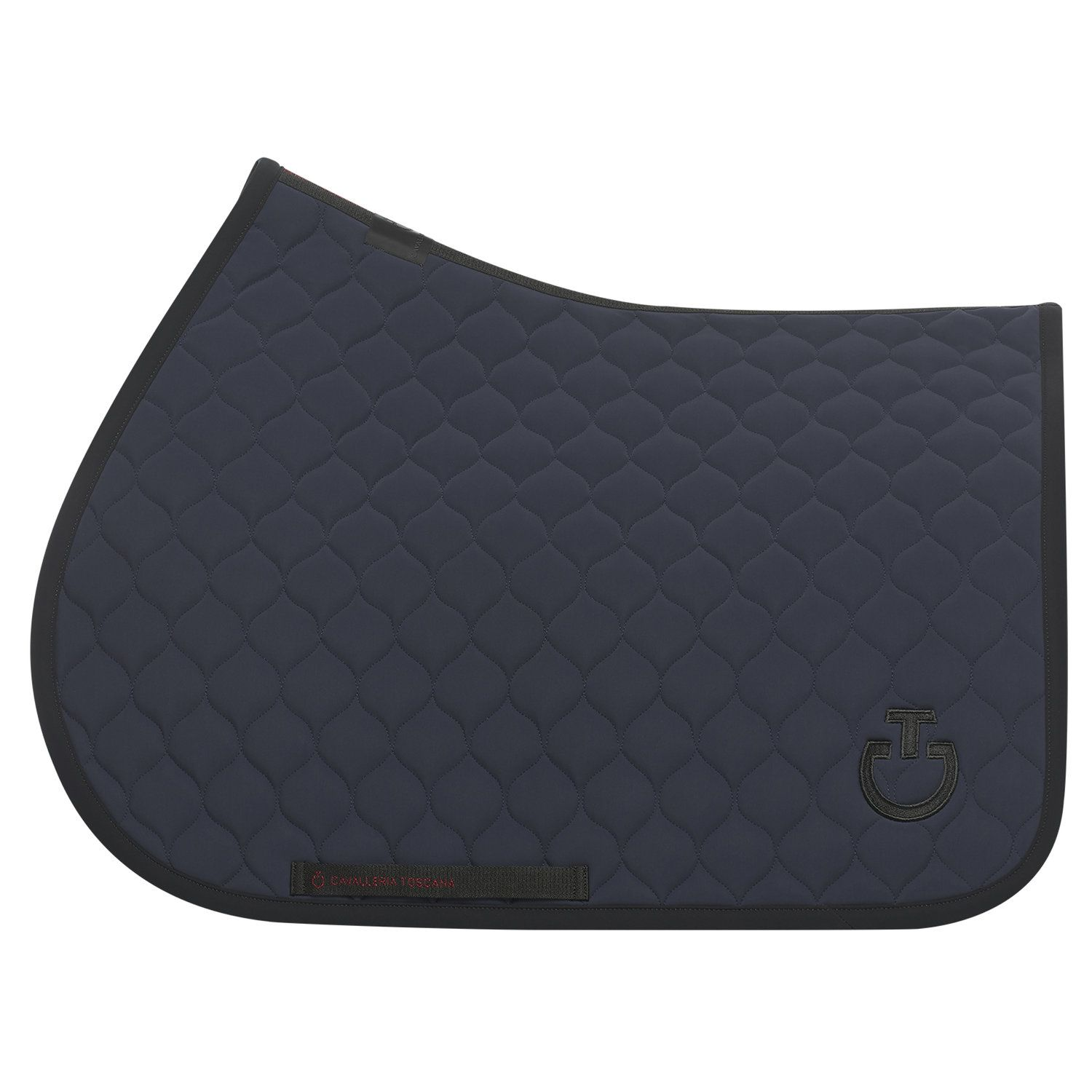 Circular-quilted jumping saddle pad