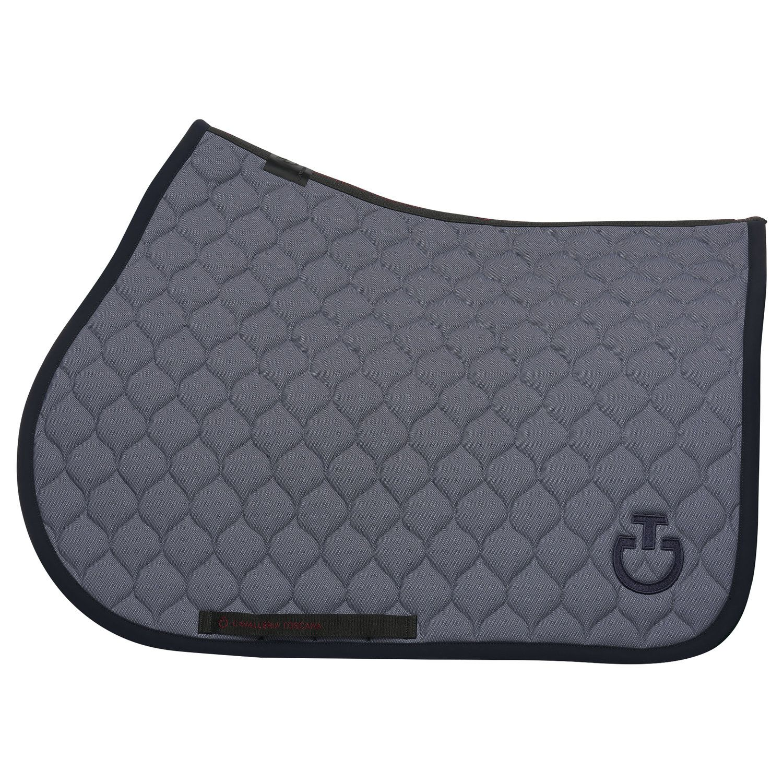 Circular-quilted jumping saddle pad