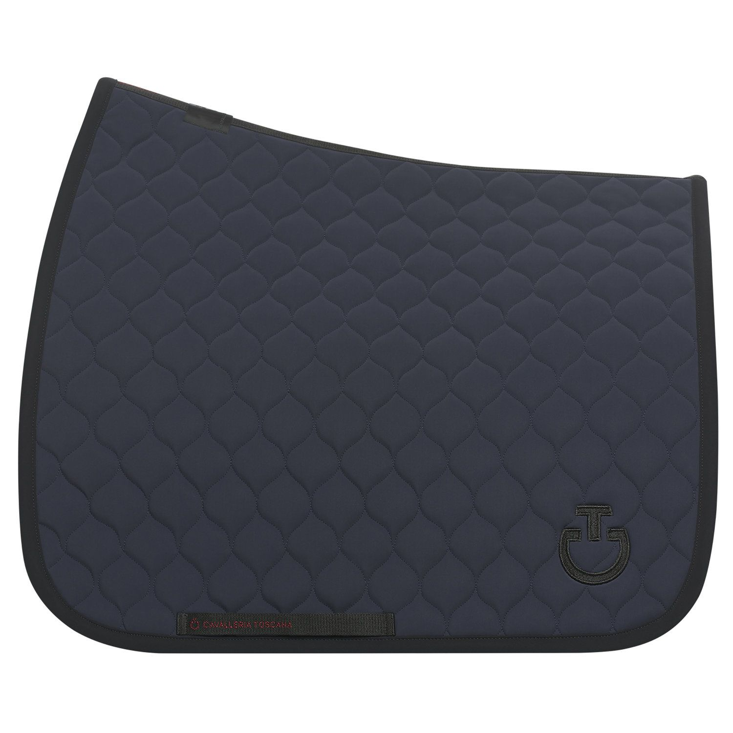Circular quilted dressage saddle pad