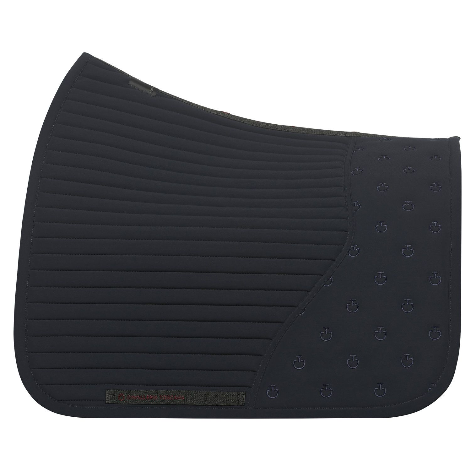 Dressage saddle pad with CT quilted insert