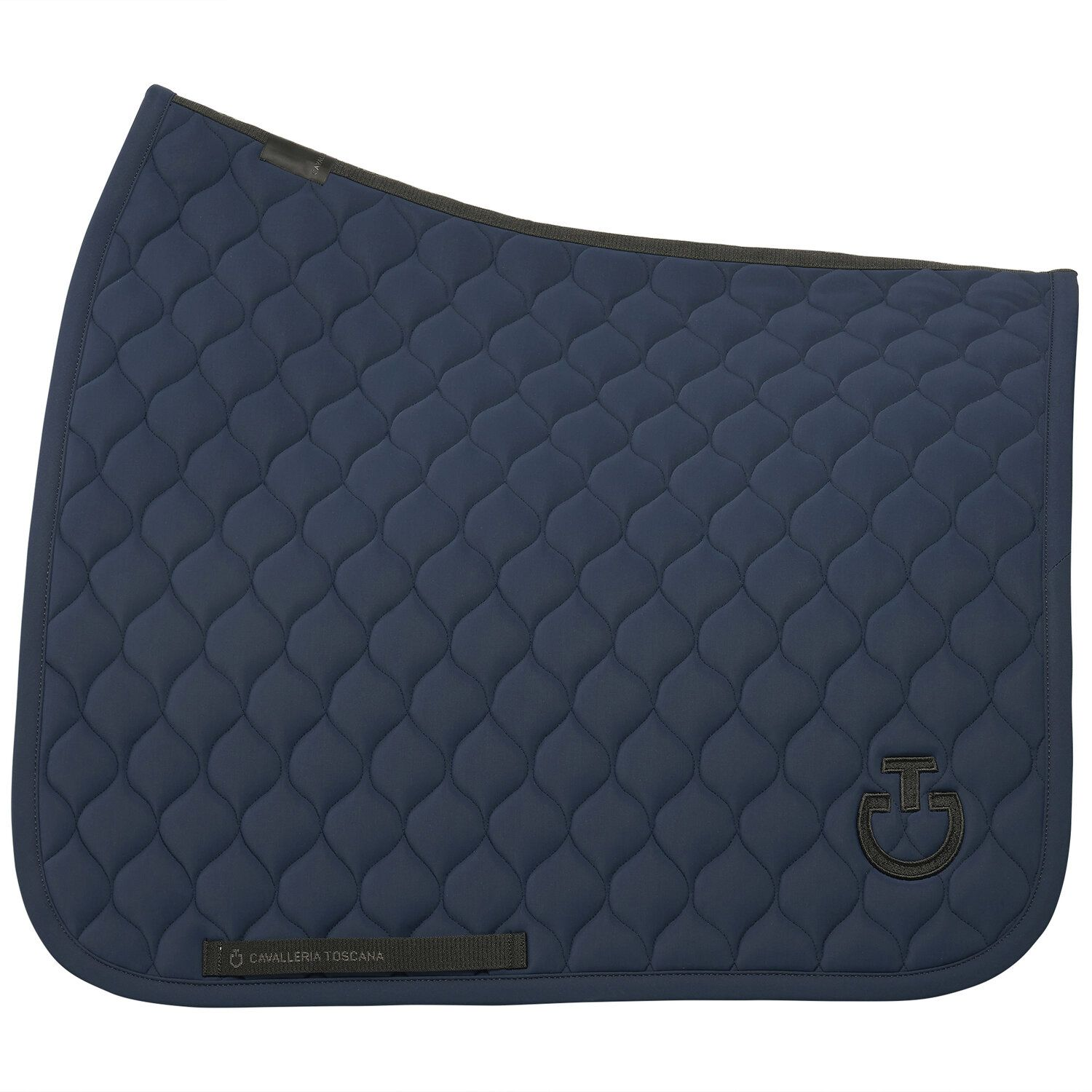 Circular-quilted dressage saddle pad