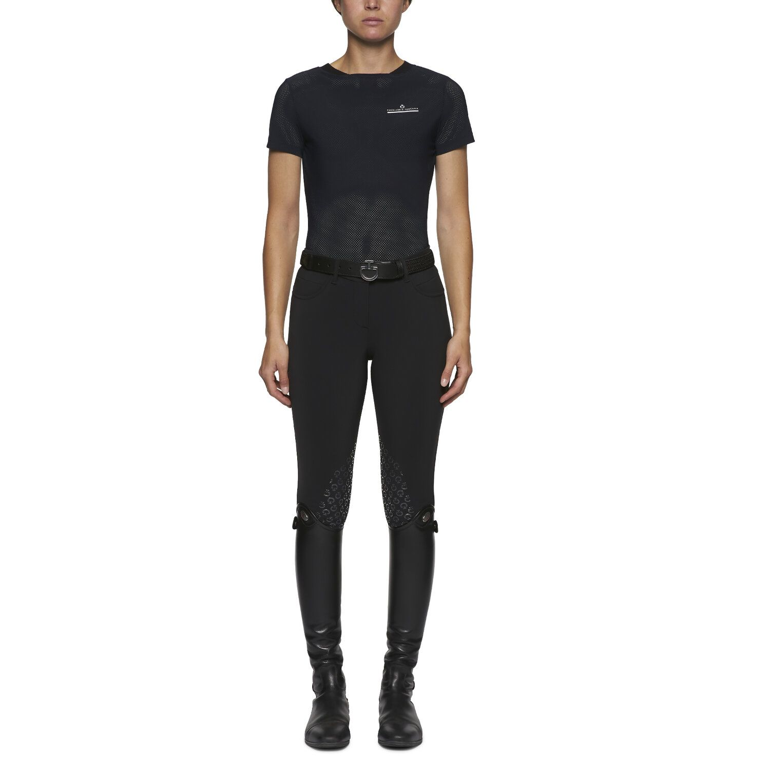Perforated women's t-shirt